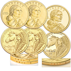2012 PDS Native American Dollar Set (3 coins)