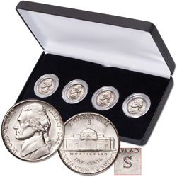1942 Complete Jefferson Nickel Set (4 coins)