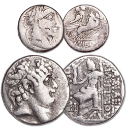 154-41 B.C. Roman Republic Silver Coin Set