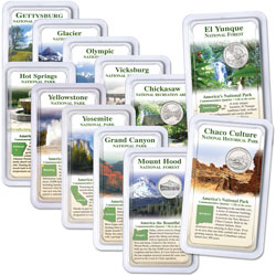 2010-2012 America's National Park Quarters in Showpaks