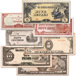1942-1944 Japanese Invasion Currency Set