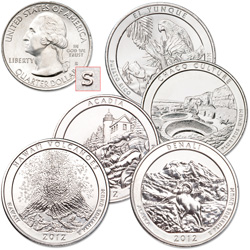 2012-S Unc. National Park Quarter Year Set