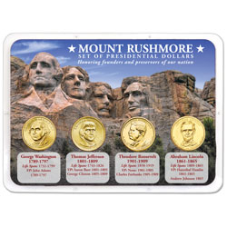 Mount Rushmore Presidential Dollar Showpak