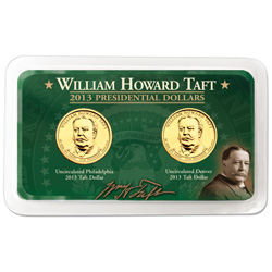 2013 P&D William Howard Taft Presidential Dollar Showpak