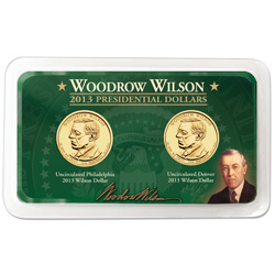 2013 P&D Woodrow Wilson Presidential Dollar Showpak
