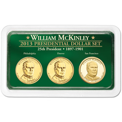 2013 William McKinley Presidential Dollar in Exclusive PDS Showpak