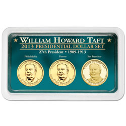 2013 William Howard Taft Presidential Dollar in Exclusive PDS Showpak