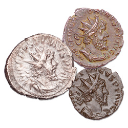 A.D. 260-274 Gallic Empire Set (3 coins)