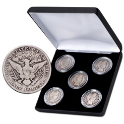 1901-1908 Barber Half Dollar Set (5 coins)