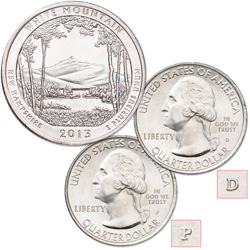2013 P&D White Mountain National Forest Quarter Set
