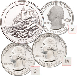 2012 PDS Acadia National Park Quarters