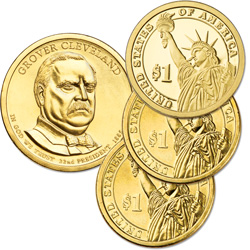 2012 PDS Grover Cleveland (Term 1) Presidential Dollar Set (3 coins)