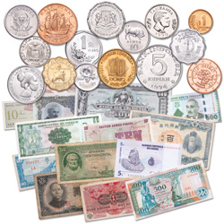 15 Coin & Note Sets from 15 Countries