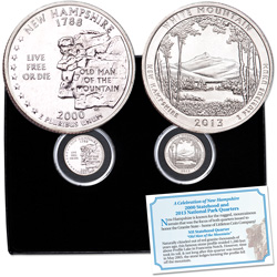 2000-2013 NH Statehood & National Park Quarter Set