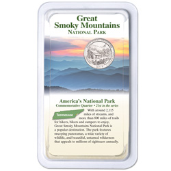 2014 Great Smoky Mountains National Park Quarter in Showpak