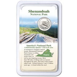 2014 Shenandoah National Park Quarter in Showpak