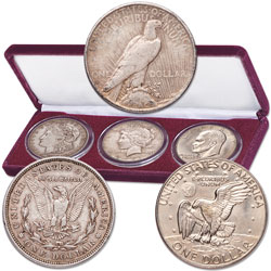 1921-1978 Last Year Dollar Coins with Display Case