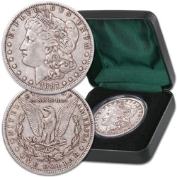 1887-O Morgan Dollar with Case