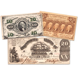 1861-1876 Civil War Era Currency Set
