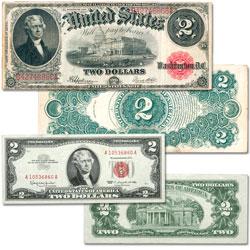 Series 1917 & 1963 $2 Legal Tender Note Set