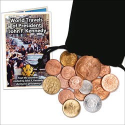 World Travels of President John F. Kennedy Set (15 coins)