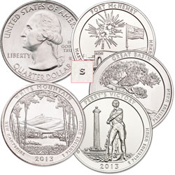 Five Sets, Uncirculated, MS60