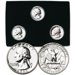 1962-1964 Last 3 Silver P-Mint Washington Quarters