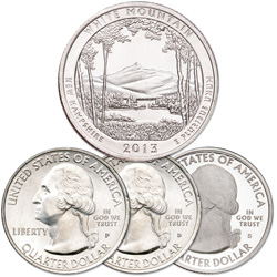 2013 PDS White Mountain National Forest Quarter Set