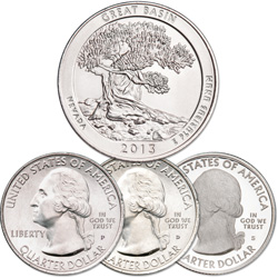 2013 PDS Great Basin National Park Quarter Set