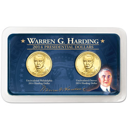 2014 P&D Warren G. Harding Presidential Dollar Showpak