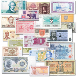 1908-2002 European Bank Note Collection (20 notes)