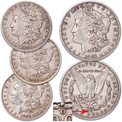 1884-1901 Morgan Dollar Set (4 coins)