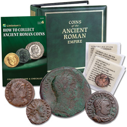 Ancient Roman Emperors Starter Set (5 coins) with Album