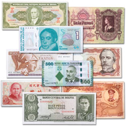 World Bank Notes with Portraits Set (9 notes)