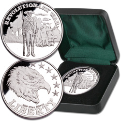 Revolutionary War Silver Round