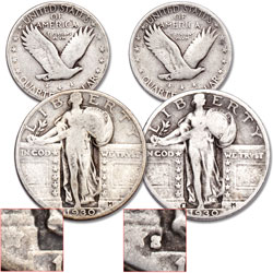 1930 P&S Standing Liberty Quarter Set