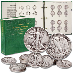 Complete 1941-1947 Liberty Walking Half Dollar Short Set (20 coins)