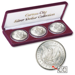 1882-1884 Carson City Morgan Silver Dollar Collection (3 coins)