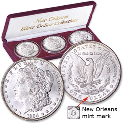1883-1885 New Orleans Set (3-coins)