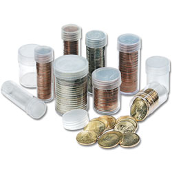 Quarter Clear Coin Tubes (20)