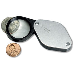 5X German Folding Pocket Magnifier