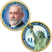2012 Colorized Benjamin Harrison  Presidential Dollar