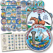 1999-2009 Complete Colorized Commemorative Quarter Set (56 coins) with Folder