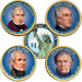 Buy All 4 Colorized 2009 Presidential Dollars