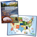 2010-2021 America's National Park Quarter Series Colorful Map Folder
