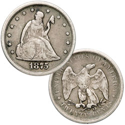 1875-S Twenty-Cent Silver Piece