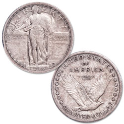 1916 Standing Liberty Silver Quarter