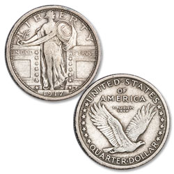 1917 Standing Liberty Silver Quarter, Type 1