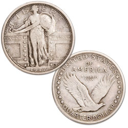 1917-S Standing Liberty Silver Quarter, Type 1
