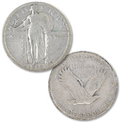 1919 Standing Liberty Silver Quarter